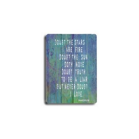 Artehouse LLC Doubt the Stars are Fire 2 by Lisa Weedn Textual Art Plaque