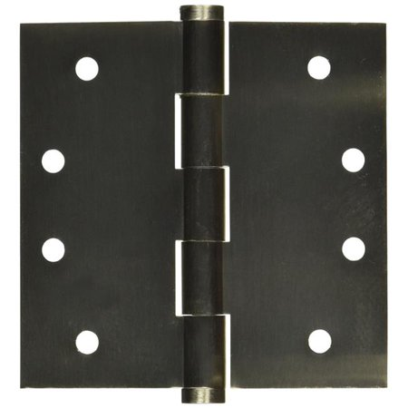 4 x 4 in. Square Mortise Hinge Non Removable Pin, Satin Nickel
