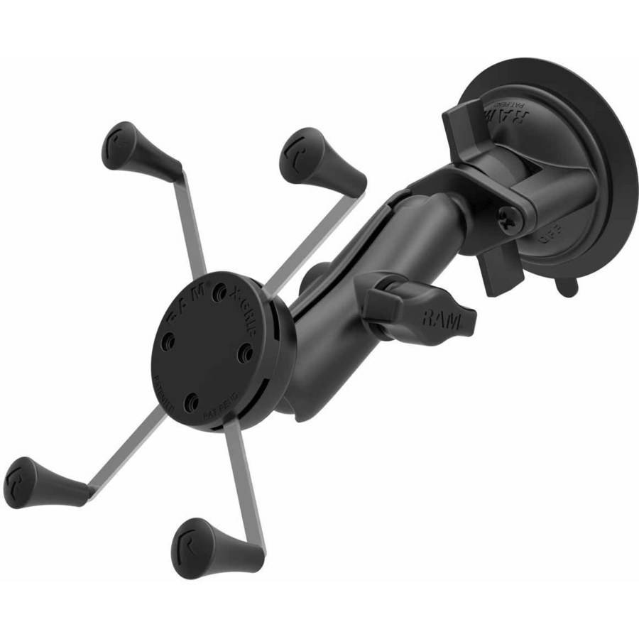 "Ram Mounts RAM-B-166-UN10 RAM Suction Mount, X-Grip 5"" Phablets"
