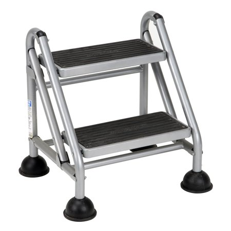 Cosco Rolling Commercial Step Stool 2 Step Platinum