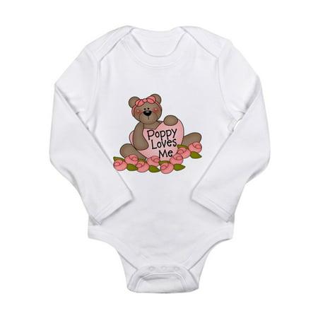 CafePress - Poppy Loves Me CUTE Bear Infant Bodysuit Body Suit - Long Sleeve Infant