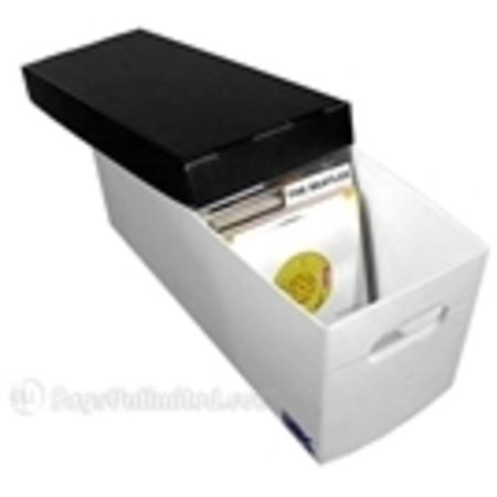 BAGS UNLIMITED 45rpm Record Storage Box, Plastic Corrugated boxes holds up to 225