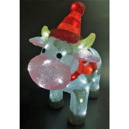 Celebrations LED Cow Christmas Decoration Multicolored Acrylic 1 pk - Cow Decorations