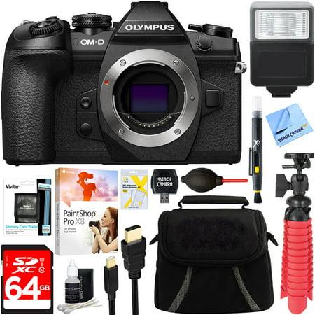 Olympus Om D E M1 Mark Ii 20 4Mp Live Mos Mirrorless Digital Camera   64Gb Class 10 Uhs 1 Sdxc Memory Card   Accessory Bundle