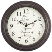 Equity by La Crosse 20898 12 Inch Forever & Always Quartz Wall Clock