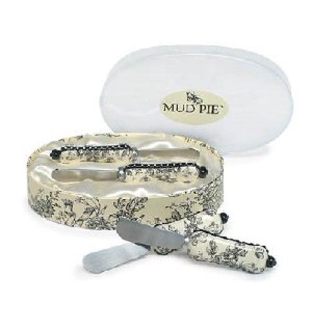 Mud Pie For Halloween (Mud Pie Toile Toile Spreader Set)