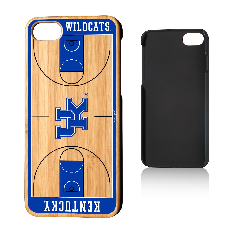 UK Kentucky Wildcats Basketball Court Bamboo Case for iPhone 8 / 7