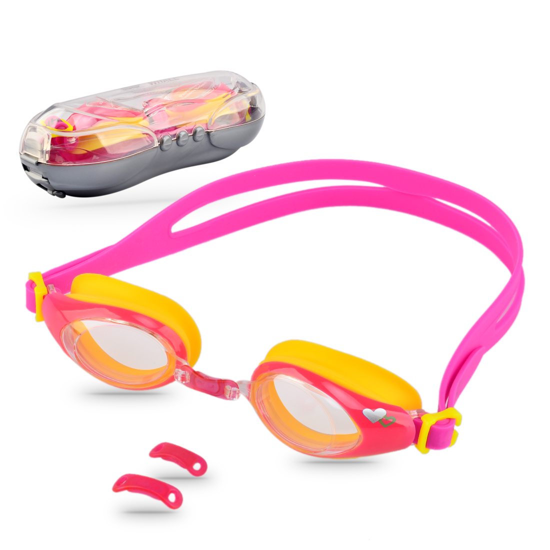 Kids Swimming Goggles UV Protection Anti-fog Lens Soft Silicone Frame Color 1 by
