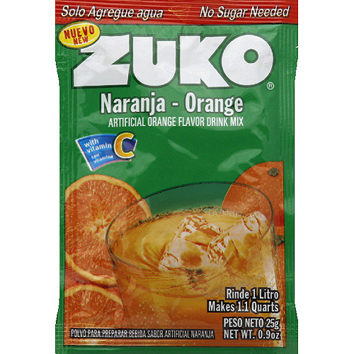 Zuko Orange Drink Mix, 0.9 oz, (Pack of 24)