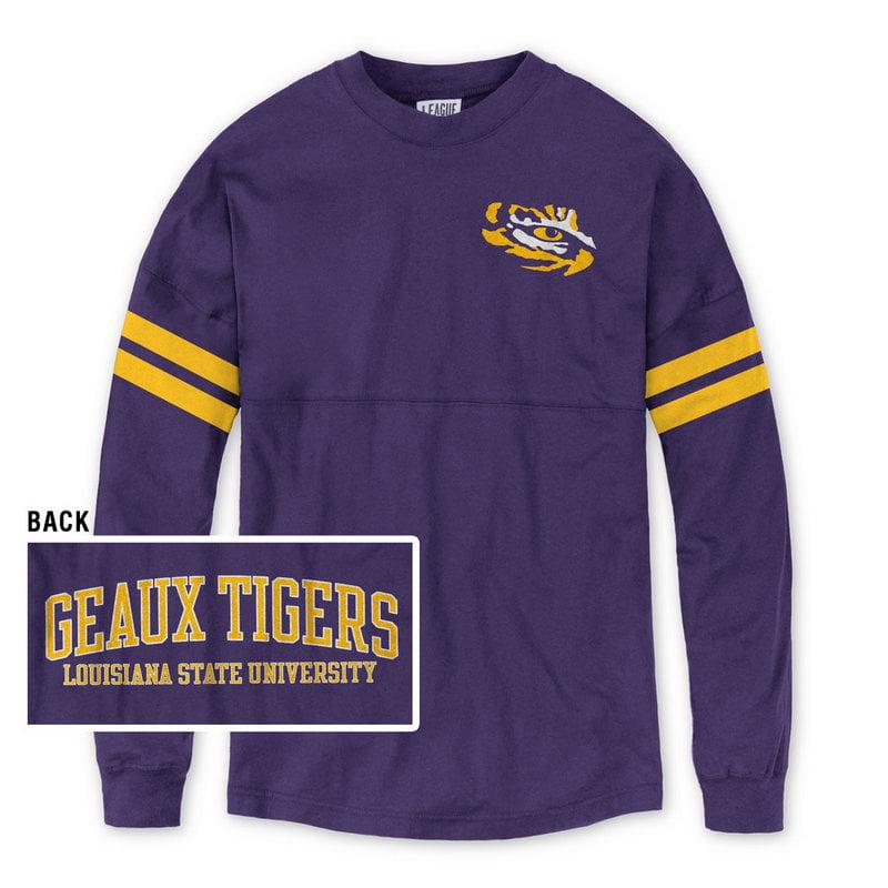 LSU Tigers Women's Long Sleeve Tshirt Purple XL by