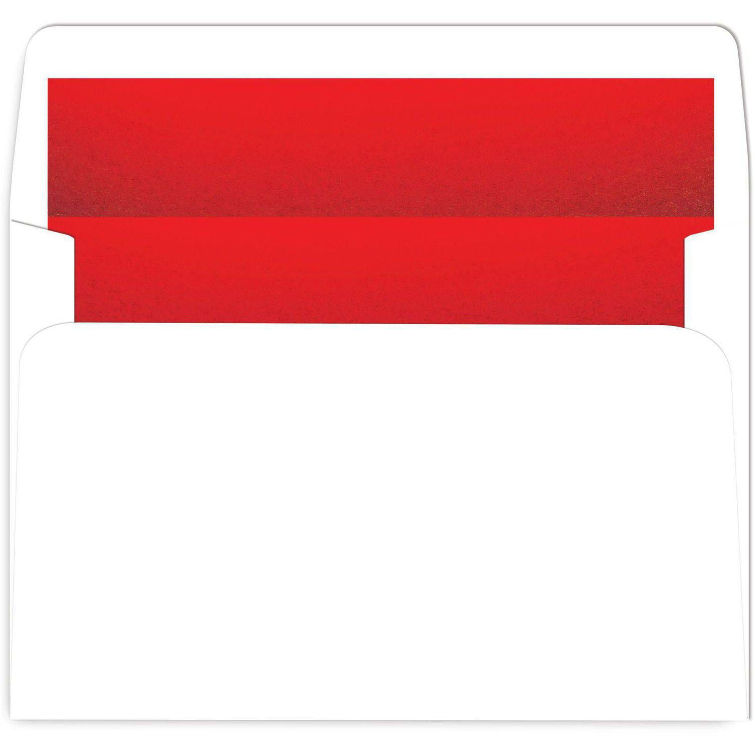 Red Foil-Lined White A9 Env