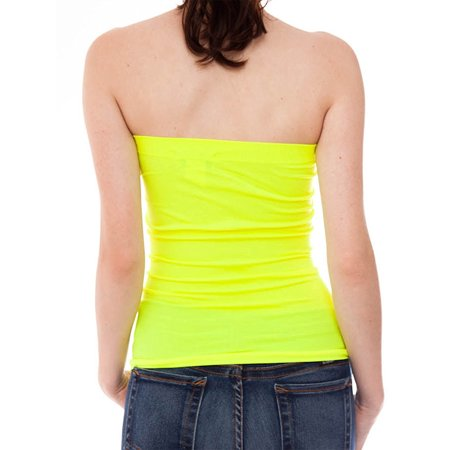 8cf2010c2e5 hollywood-star-fashion - basic fashion junior womens plain strech seamless  strapless layer tube top - - Walmart.com