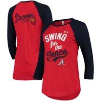 05ced816530 Product Image Atlanta Braves Under Armour Women s Baseball 3 4-Sleeve Performance  T-Shirt -