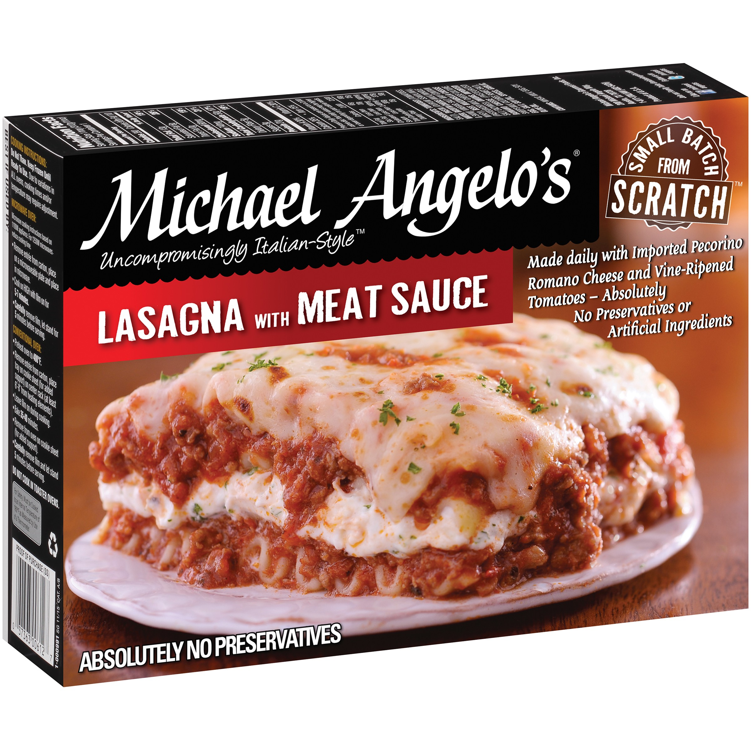 Michael Angelo's Lasagna with Meat Sauce 11 oz. Box by Michael Angelo's Gourmet Foods, Inc.