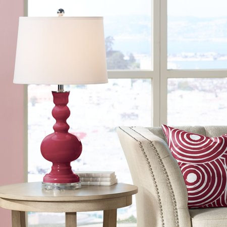 Color + Plus Antique Red Apothecary Table Lamp