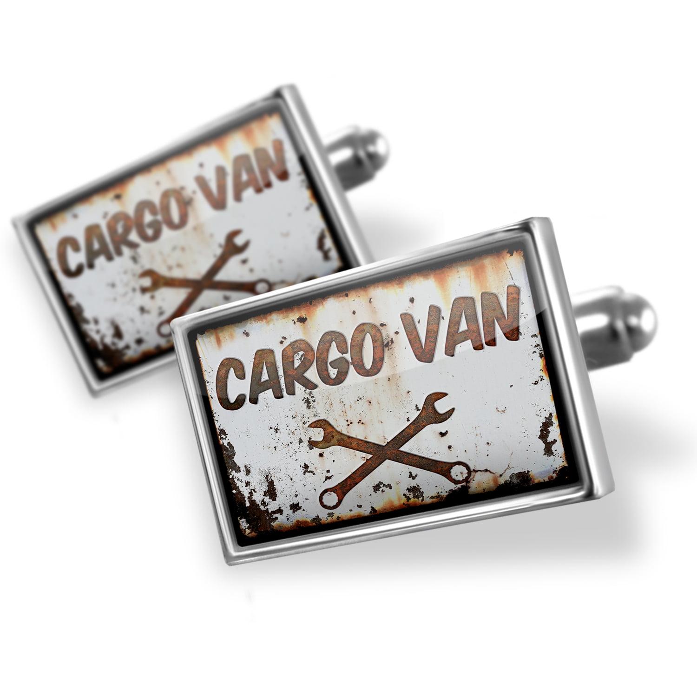 Cufflinks Rusty old look car Cargo van - NEONBLOND