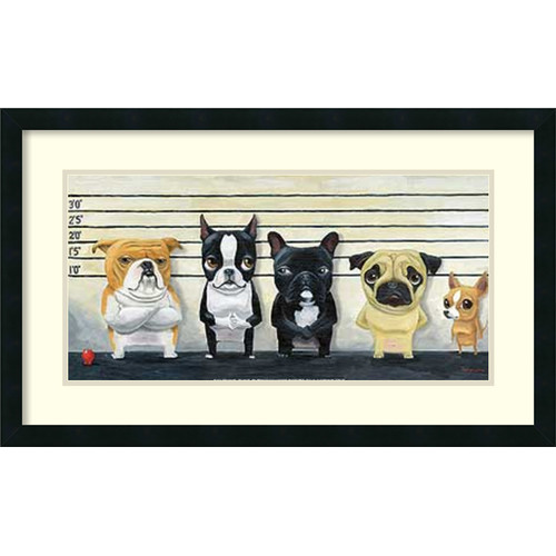 Amanti Art 'The Lineup' by Brian Rubenacker Framed Graphic At by Amanti Art