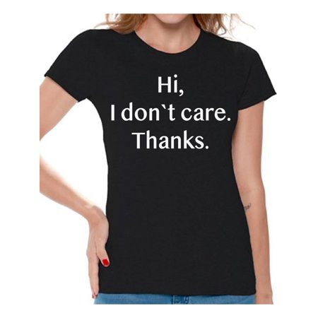 Awkward Styles Women's Novelty Tshirts Womens Novelty Shirts Funny Sarcastic Humor Graphic Tees for Women I Don't Care