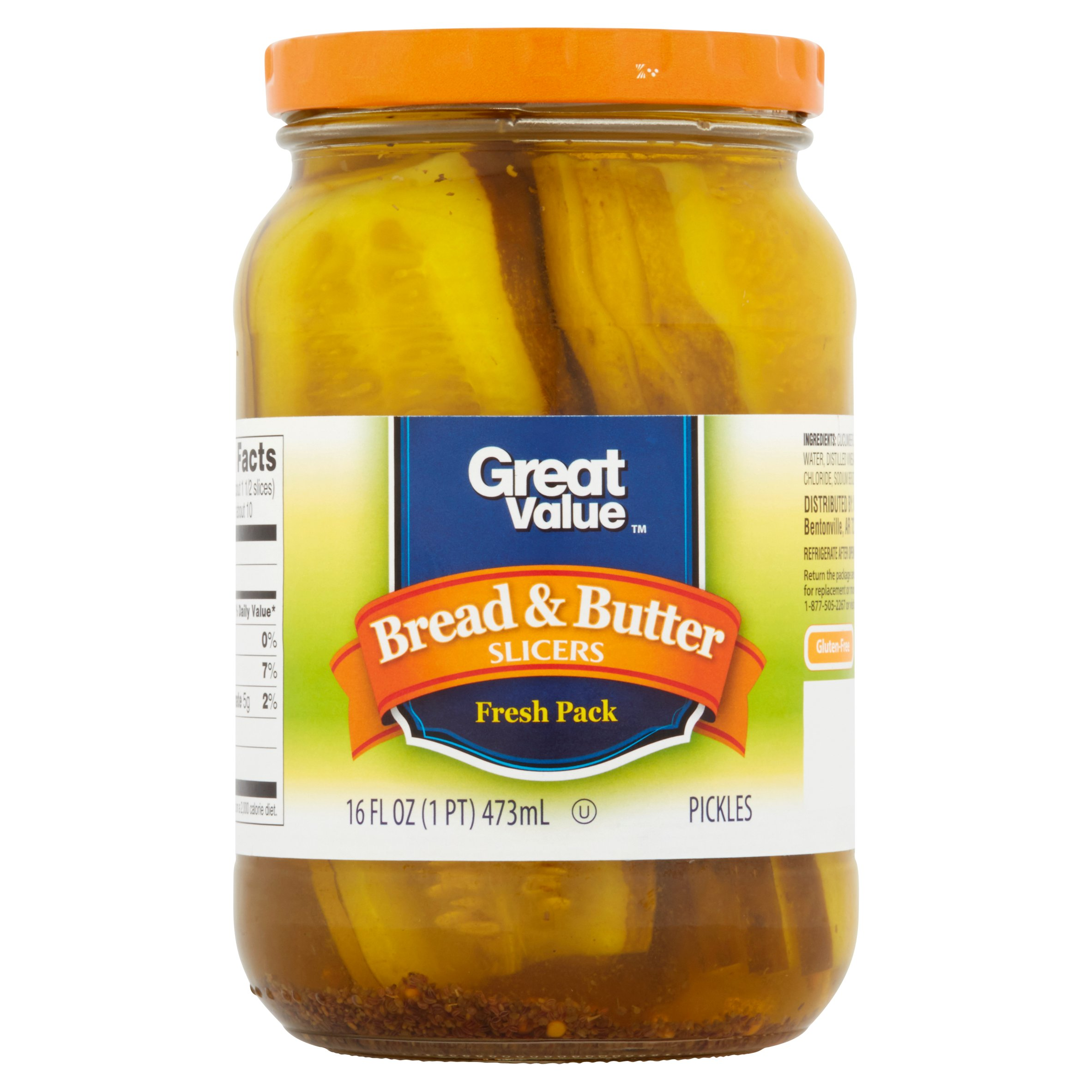 Great Value Bread & Butter Slicers Pickles, 16 fl oz by Wal-Mart Stores, Inc.