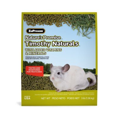 - Zupreem Nature's Promise Timothy Naturals Chinchilla Recipe Dry Small Animal Food, 3 Lb