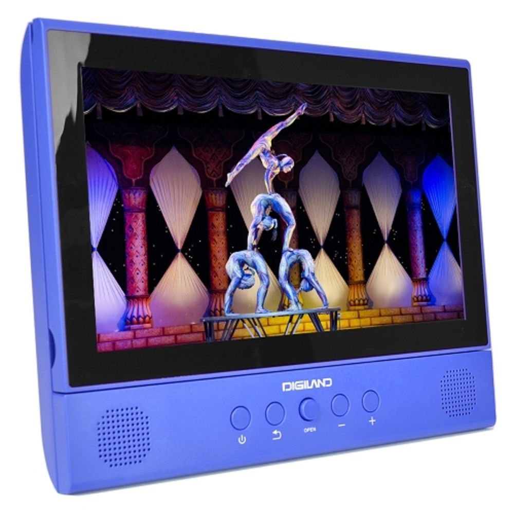 "Digiland DL1001 10.1"" Android 2-in-1 Tablet DVD Player Quad Core 1GB 16GB  Blue"