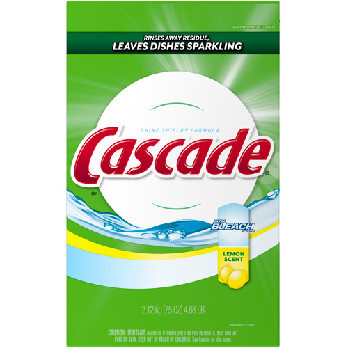 Cascade With Shine Shield And Extra Bleach Action Lemon Scent Dishwasher Detergent, 4.68 lb