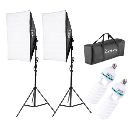 Zimtown 2Pcs Lighting Softbox Stand Photography Photo Equipment Soft Studio Light (Best Photography Lighting Sets)