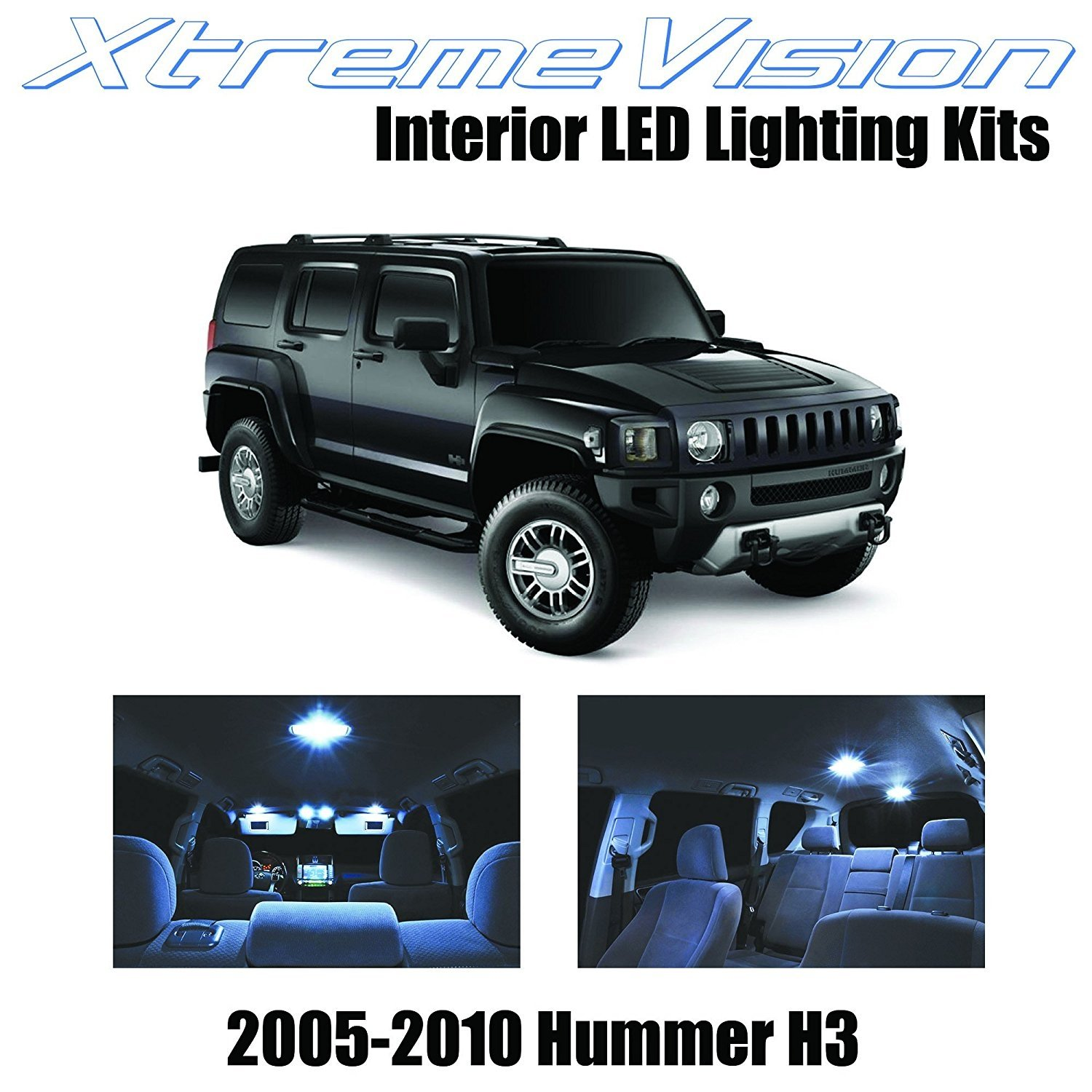 XtremeVision LED for Hummer H3 2005-2010 (15 Pieces) Cool White Premium Interior LED Kit Package+installation