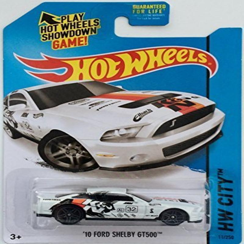 Hot Wheels, 2015 HW City, '10 Ford Shelby GT500 [White] Die-Cast Vehicle #11/250, 1:64 Scale