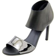 Womens VINCE Stephanie Peep-Toe Ankle Strap Heels - Rut/Black