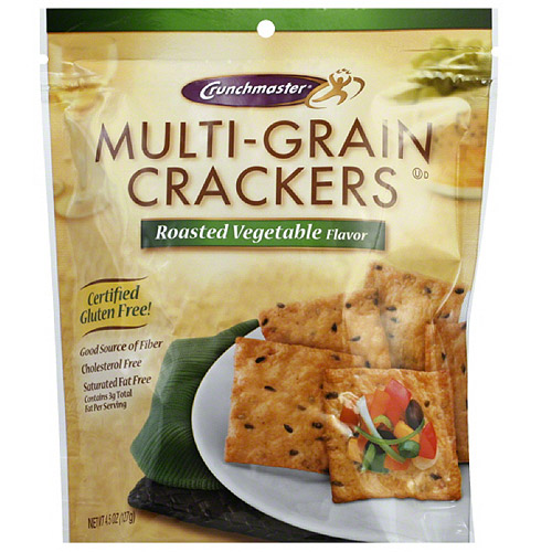Crunchmaster Multi-Grain Roasted Vegetable Crackers, 4.5 oz, (Pack of 12)