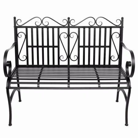 Fine 2 Seater Foldable Outdoor Patio Garden Bench Porch Chair Seat With Steel Frame Solid Construction Beatyapartments Chair Design Images Beatyapartmentscom