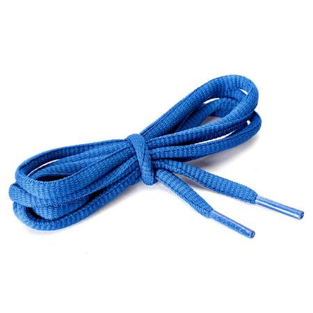 "2 Pairs Unisex Oval Half Round Shoelaces Sneakers Dark Blue-5 150 cm/59"" - image 3 of 4"