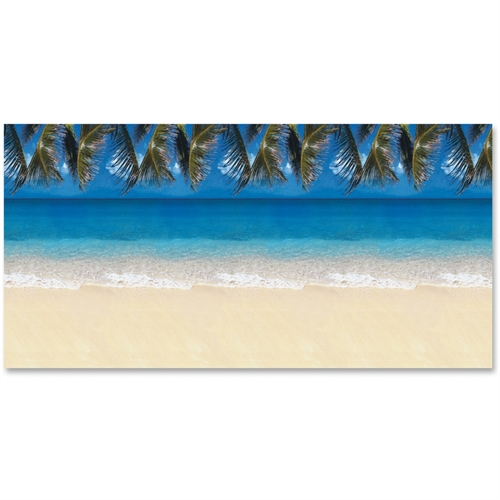 Fadeless Tropical Beach Design Bulletin Board Papers, Single Roll