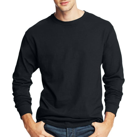 Hanes Men's Tagless Comfortsoft Long-sleeve T-shirt (Jessica Black T-shirt)