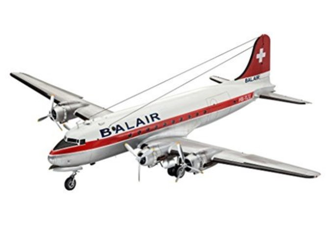 Revell 04947, DC-4 Balair   Iceland Airways, 1:72 scale plastic model by Revell