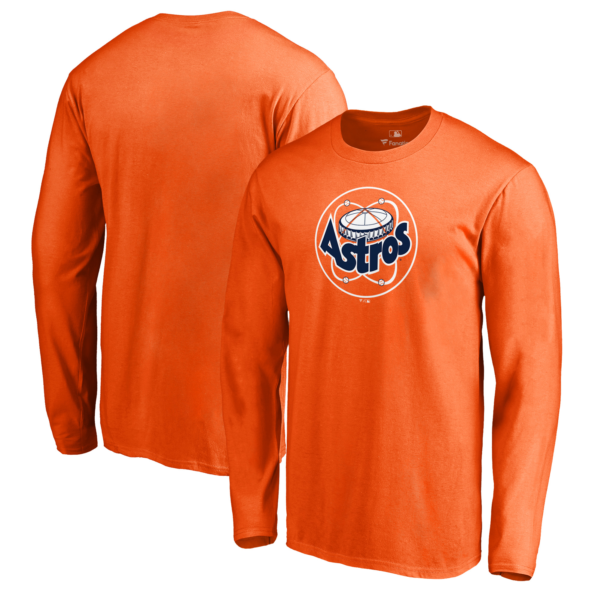 Houston Astros Fanatics Branded Cooperstown Collection Huntington Long Sleeve T-Shirt - Orange