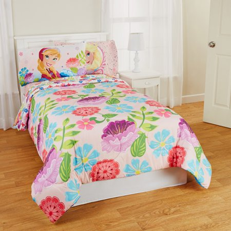 Frozen Floral Breeze Twin/Full Reversible Bedding Comforter, Pink -  Walmart.com - Frozen Floral Breeze Twin/Full Reversible Bedding Comforter, Pink