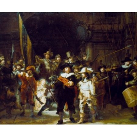 The Night Watch 1642 Rembrandt Harmensz van Rijn Oil on canvas  Rijksmuseum Amsterdam Poster Print