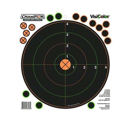 Champion Targets 46132 VisiColor Adhesive Targets 100 Yard Sight-In Circle 5PK ()