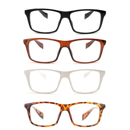 Newbee Fashion - Casual Simple Squared Durable Frames Temple Design Clear Eye (Glass Frames For Square Faces)