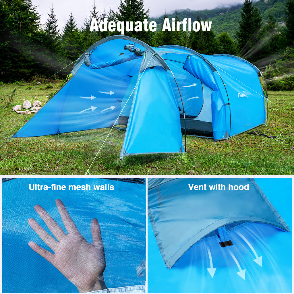 Large 3-4 Men Family Party Tent Awning Camping Festival Waterproof Outdoor FU