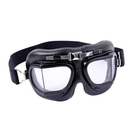 Black- WWI Aviator Style Goggles](Aviator Goggles)