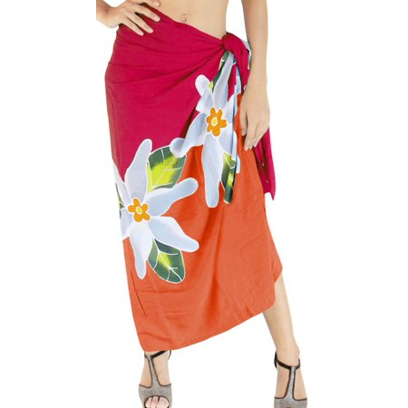 488d587508 HAPPY BAY - Mutli Floral Hand Paint Sarong Bali for Beach Wrap Women  Hawaiian Cover ups - Walmart.com