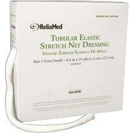 Stretch Net Tubular Elastic Dressing (ReliaMed Tubular Elastic Stretch Net Dressings - Precut Dressing - Size B (10 yds, 1.2
