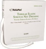 "ReliaMed Tubular Elastic Stretch Net Dressings - Precut Dressing - Size C (10 yds, 2.0"" flat)"