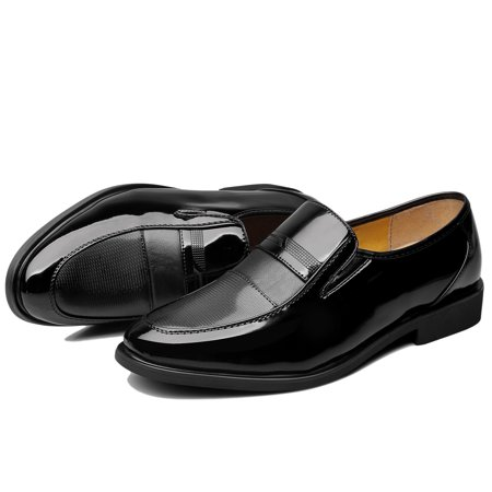 Men's Classic Dress Fashion Leather European Style Slip On Shoes