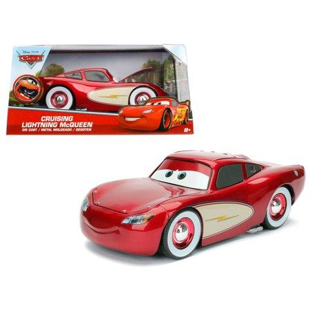 """Disney Pixar """"Cars"""" Movie Cruising Lightning McQueen Diecast Model Car  by Jada"""