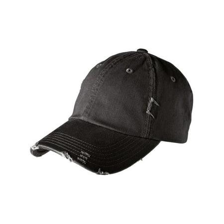 Mafoose Men's Distressed Cap Hat Black](Hot Black Cop)