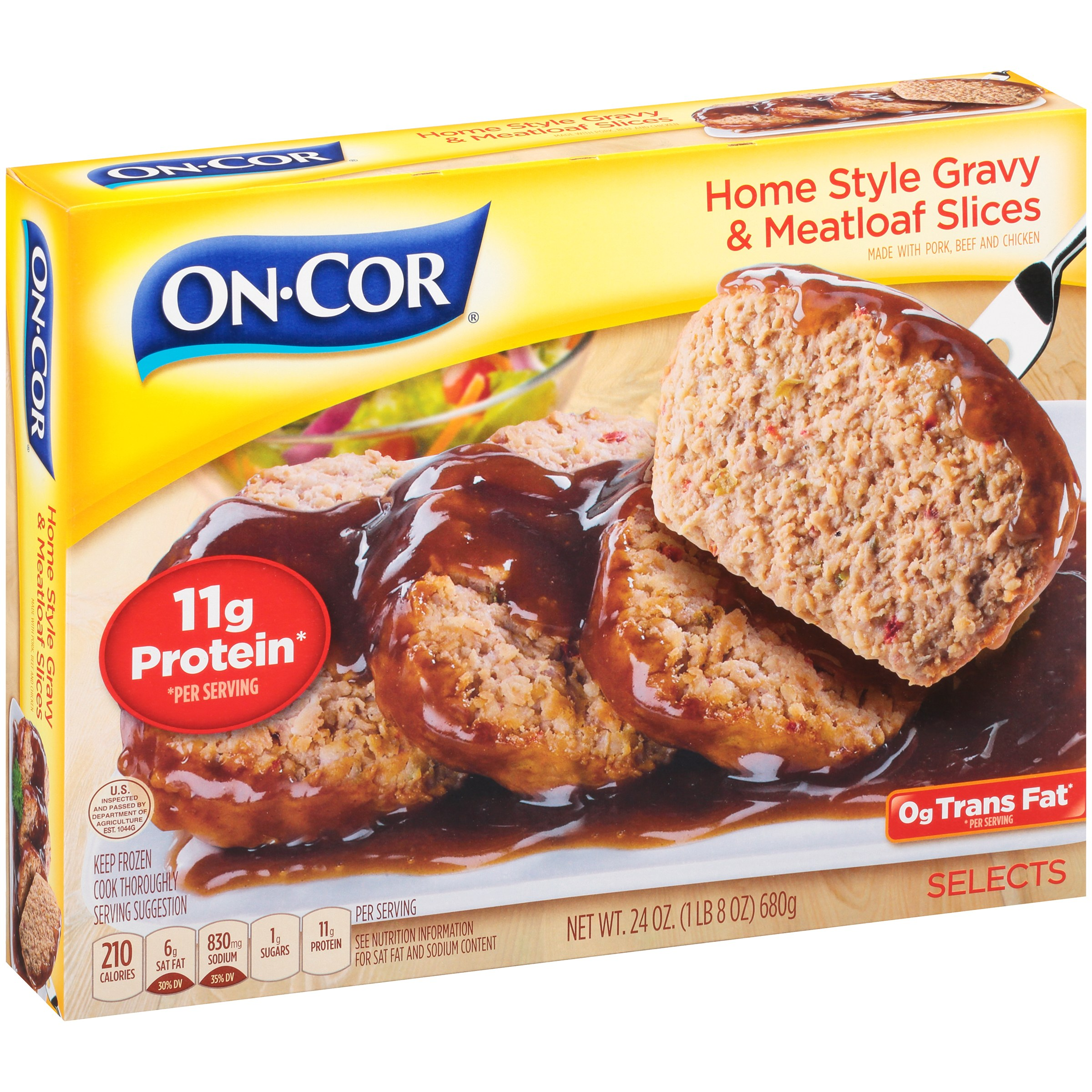 Image of On-Cor ® Home Style Gravy & Meatloaf Slices 24 oz. Box